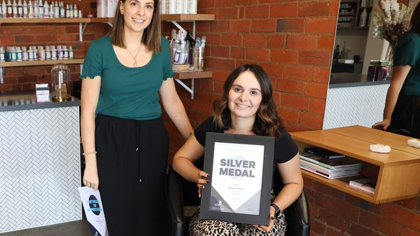 Silver Medal for GOTAFE Hairdressing Apprentice