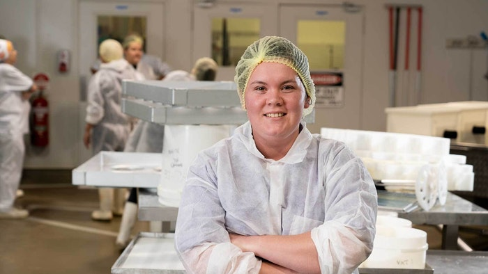 GOTAFE Manufacturing student in white