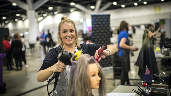 Hannah Wilson, GOTAFE student and 2018 Worldskills National Bronze Medalist for Hairdressing