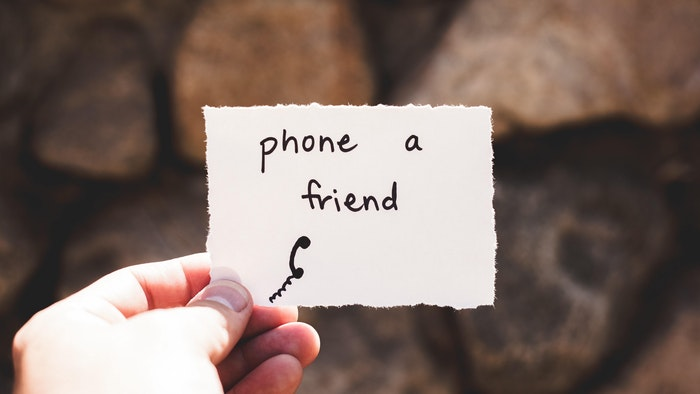 Phone a friend Building Resilience Wellbeing