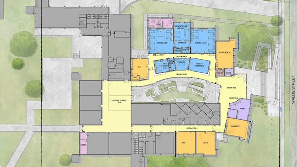 Birds Eye view Seymour Campus Redevelopment