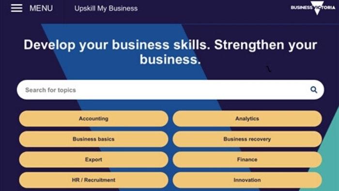 Upskill My Business Homepage