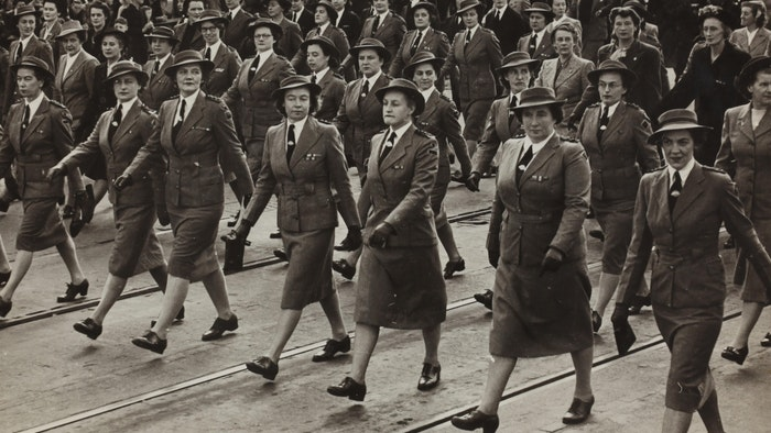 Nurses Marching, 7th Australian General Hospital, Sister Isabel Erskine Plante, World War II