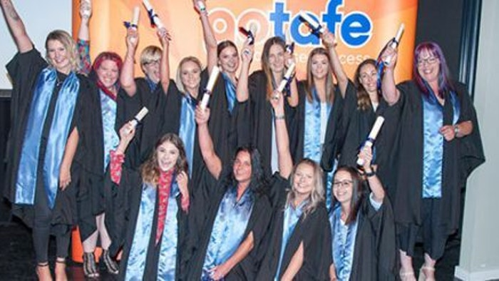 2018 GOTAFE Graduates celebrating at graduation